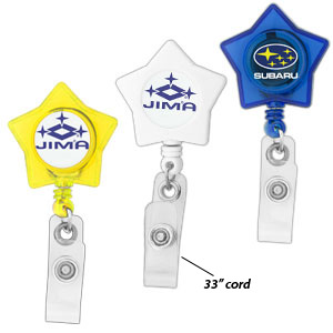 Star-Shaped Retractable Badge Holder