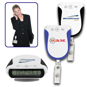 Retractable Badge Holder Pedometer